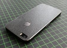 iPhone 4/4S/5/5S Aufkleber/Sticker mit 3D Struktur. Leder schwarz, leather black