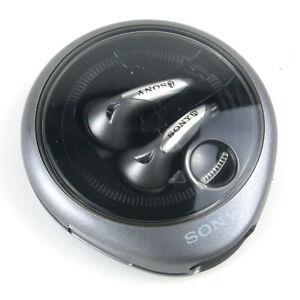 SONY MDR-E829V Ear Bud Stereo Headphones Black Grey Vintage *Serviced*