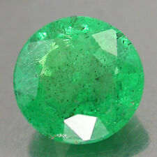 0.72Cts. CERTIFICATE Rare!! Gorgeous 100%Natural Color Top Green Emerald Rd