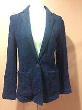Anthropologie Cartonnier Navy Blue Jacket Blazer Size 8