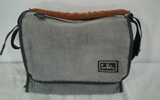 Vintage 1970's grey Sun Valley camera case canvas leather strap