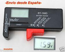 Testeador, comprobador de pilas y baterias, digital, con pantalla LCD