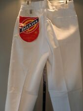 Nos Vintage Usa DeadStock White Pants Trousers Slacks Work Retro Chef Mens 33/31