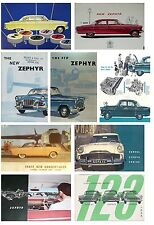 MK2 FORD ZEPHYR  ZODIAC ADVERT BROCHURE 9 DIFFERENT FRIDGE MAGNET CARS CHRISTMAS