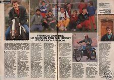 Coupure de presse Clipping 1986 Francis Cabrel  (2 pages)