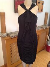 STUNNING KAREN MILLEN BLACK EVENING/COCKTAIL DRESS UK SIZE 10 WORN ONCE EXC CON