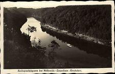 1932 AK ZSCHOPAU Talsperre Stempel LAUENHAIN gelaufen alte Postkarte