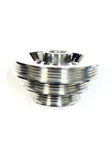 OBX Silver Crank Pulley For Honda 88-91 CRX D15/16 & 88-00 Civic D15/16 1.5/1.6L