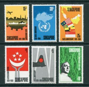 1969 Singapore 150th Anniv. of Founding set of Stamps Unmounted Mint U/M MNH