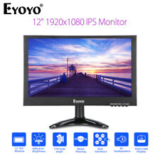 12Inch 1920x1080 Color IPS Display Monitor VGA BNC Audio Video For CCTV DVR DVD