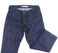 OLD NAVY Women's Cropped Jean Capri Dark Wash Size Straight Fit Size 8 EC