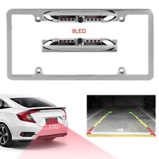 Car License Plate Frame Rearview Reverse Back-Up Camera Kit Night Vision Cam Vi