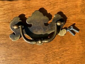**LARGE**Ethan Allen Heirloom Maple Replacement Brass Drawer Hardware/Pull