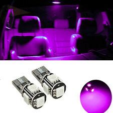 2 ampoules à LED W5W / T10  smd plafonnier habitacle interieur  couleur ROSE