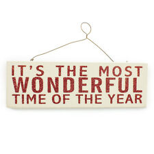 Its the Most Wonderful Time of The Year Sign Christmas  Plaque Sign Wooden Door