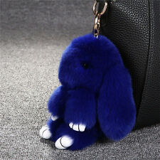 "6/7""Fluffy Bunny Rabbit Fur Key Chain Ring For Phone Car Pendant Handbag Bag MAU"