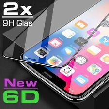 2x 6D Hartglas iPhone X Schutzglas Displayschutz Folie 9H-Schutzpanzer Glasfolie