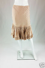 *TARA JARMON* VIEUX ROSE GYPSY STYLE SATIN SKIRT (UK 8 )
