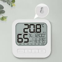 Mini plastic home decorate wall clock digital Thermometer/Hygrometer with clock
