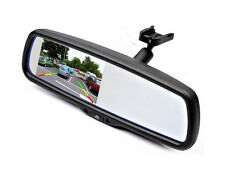 Rear view mirror w/ 4.3 inch LCD monitor & 2 video inputs (back-up camera,DVD,+)
