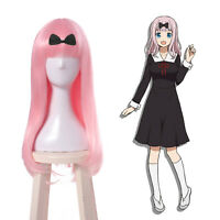 Kaguyasama Love is War Fujiwara Chika Cosplay Wig Pink Long Women Hair