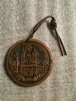 Lithuania Vintage The Calvary if Vilnius~Holy Cross Church 1635 Ornament M-259 *