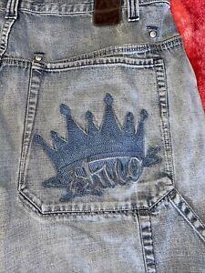 Vintage JNCO Jeans Mens Crown  Denim Jean Shorts Blue Size 38 90s