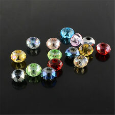 100pcs Mixed Color Faceted Rondelle Glass Beads 8x5mm Crafts Making 3mm Hole