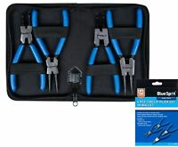 Bluespot 4pc Circlip Snap Ring Pliers Internal External Bent Straight Plier Set
