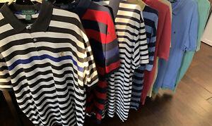 Lot Of 8 Ralph Lauren Polo Short Sleeve Polo Shirts Size XL