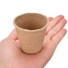 100pcs Biodegradable Nursery pots round paper peat for flower vegetable seedings