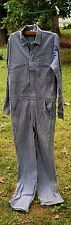 Vtg Style Todd Oldham Denim Jumpsuit Coveralls Work Wear 38 L Herringbone Stripe