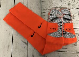 New Nike Grip Orange Over The Knee Football / Soccer Socks XL - 11 - 13.5