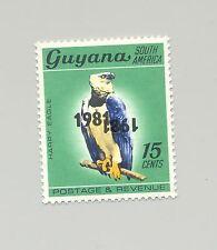 Guyana #350 Harpy Eagle, Birds Double o/p Black Error, Inverted 1x 1v