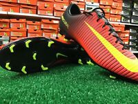 New Nike Mercurial Veloce III FG Soccer Cleats Red / Yellow / Black Size 10.5