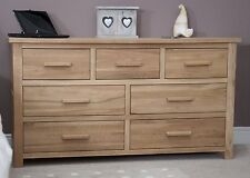 Boston chest of drawers large wide solid oak bedroom furniture
