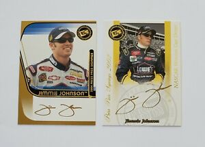 Jimmie Johnson 2002 & 2004 Press Pass Signings Autograph Cards (Gold)