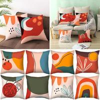 """Colourful Geometric Pillow Case Sofa Throw Cushion Cover Home Decor 18"""" x 18"""""""