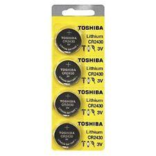 Toshiba CR2430 2430 3 Volt Lithium Coin 3V Batteries x 4