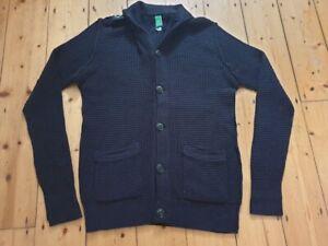 Mens MA.STRUM Quality Knit Cardigan Navy Blue XL Smart Casual Rare CP Ma Strum