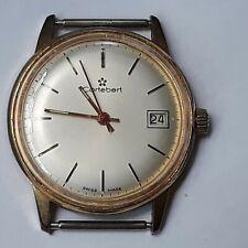 Rare Vintage CORTEBERT 17 Jewels Swiss With Date