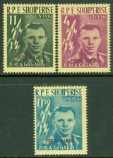 EDW1949SELL : ALBANIA 1962 Sc #604-06 Overprint in Red or Black. VF MNH. Cat $90