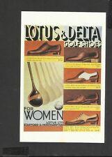 Nostalgia Postcard Advertising Lotus & Delta Golf Shoes 1933