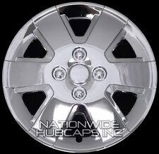 "15"" Set of 4 Chrome Wheel Covers Snap On Full Hub Caps fit R15 Tire & Steel Rim"