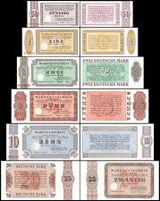 Germany 50 Pfennig to 20 Deutsche Mark 6 PCS Set, 1958-73, UNC, Bethel Germany