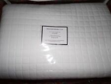 Williams Sonoma Home Box Stitch Sateen Coverlet Quilt, King, White,pottery barn