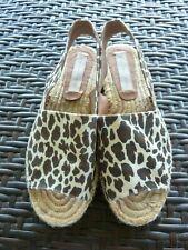 Stella McCartney Sandal Size 38/US 8 Slingback Espadrille Animal print $700+GIFT