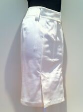 TOM FORD Off-White DENIM Color Wash SPLIT HEMS Curvaceous Fit Pencil S Skirt NWT