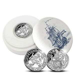 2020 Netherlands Lion Dollar 1 oz Silver Proof Coin Royal Delft Ed. - 400 Made