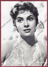 GINA LOLLOBRIGIDA 40a ATTRICE ACTRESS CINEMA MOVIE STAR Cartolina FOTOGRAFICA